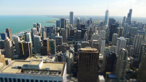 Chicago Skyline View from atop 360 Chicago