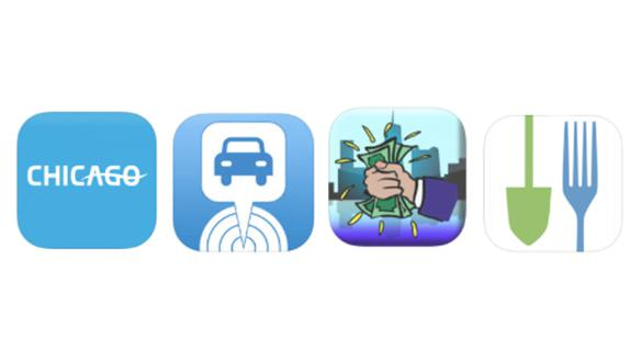 Icons of Best Chicago Smartphone Apps