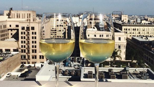 Wine glasses on Roof