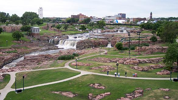 Falls Park in Sioux Falls