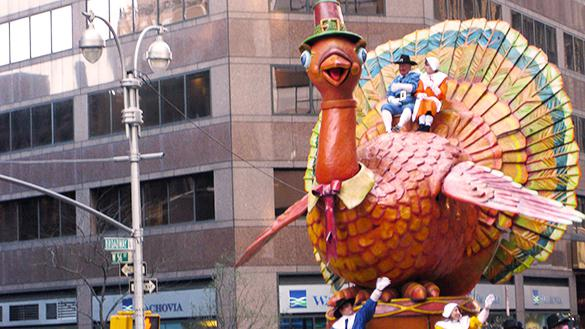Famous Macy's Thanksgiving Day Parade Turkey Balloon in NYC