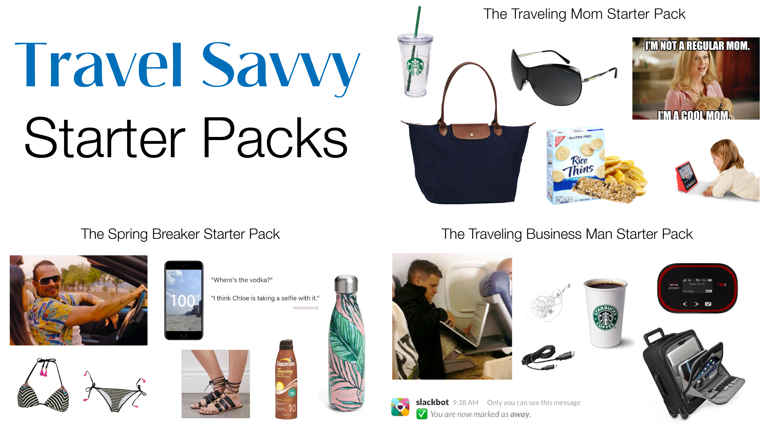 Travel Savvy Starter Packs for Every Type of Traveler