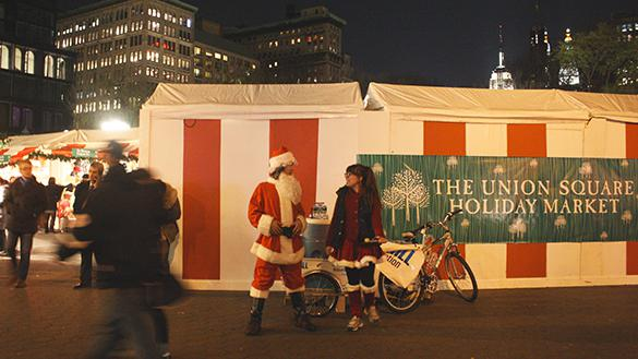 Union Square Holiday Market featuring Santa Claus
