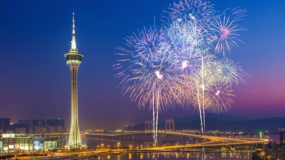 Fireworks over Macao