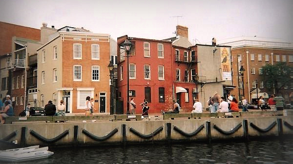 Fells Point with Chesapeake Bay in Baltimore Maryland