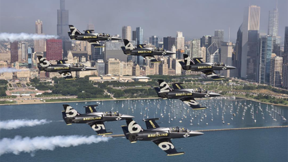 Jets Flying Over Chicago