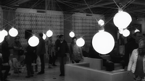 Light Installation at Chicago Cultural Center