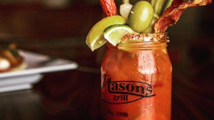 Bloody Mary at Mason's Grill in Baton Rogue Louisiana
