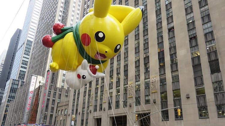 Pikachu Pokemon Balloons Macy's Thanksgiving Parade NYC
