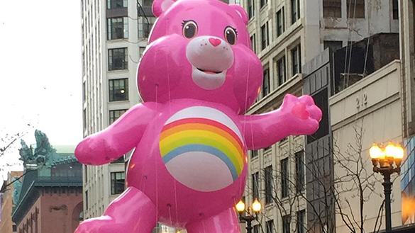 Care Bear Balloon at Chicago McDonald's Thanksgiving Parade