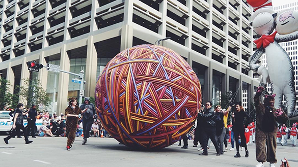 Ball of Yarn Thanksgiving Day Parade Houston Texas Instagram
