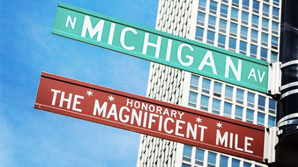The Magnificent Mile Street Sign