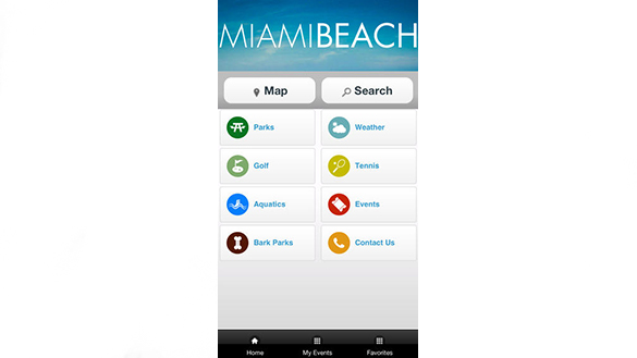 Miami Beach Parks app screenshot