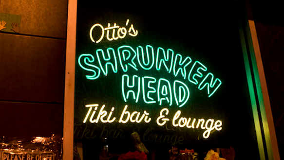 Exterior Sign at Otto's Shrunken Head