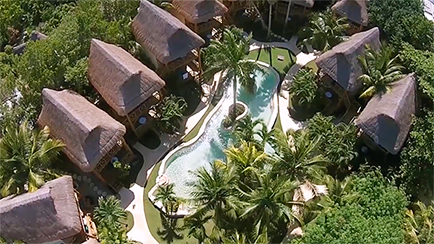 Aerial View Mahekal Beach Resort in Playa Del Carmen Mexico