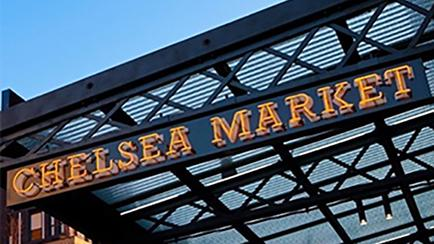 Chelsea Market Entrance Sign in NYC