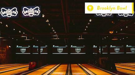 bowling at Brooklyn Bowl