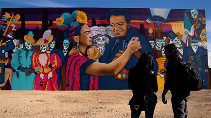 Rock Martinez Art Mural in Tucson Arizona