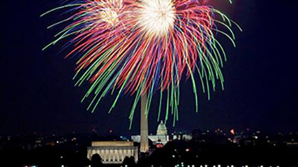 Independence Day Fireworks at Washington Monument in DC